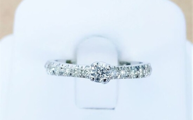 18 kt. White gold - Ring - 0.12 ct Diamond - Diamonds