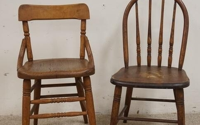 2 DIFFERENT SIGNED CHILDS CHAIRS