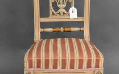 French Empire style side chair, the rail Polychrome