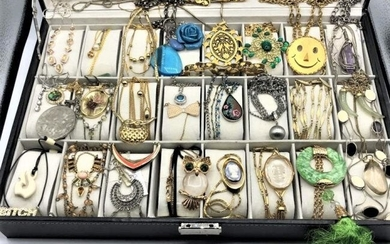 [41] Forty One Assorted Costume Jewelry Necklaces