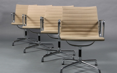 Charles Eames. Four armchairs EA-107. Hopsak (4)