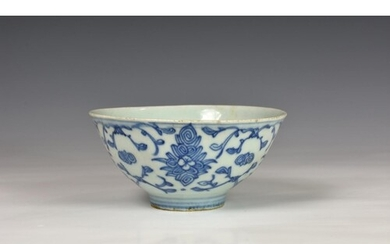 A Chinese blue and white porcelain Ming style bowl, probably...