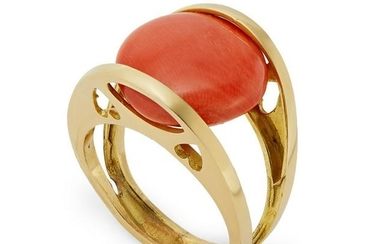 A French coral ring.