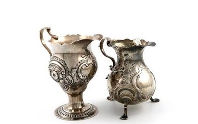 A George II silver cream jug, by Phillip...