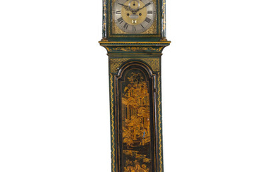 A George III Gilt and Lacquered Tall Case Clock