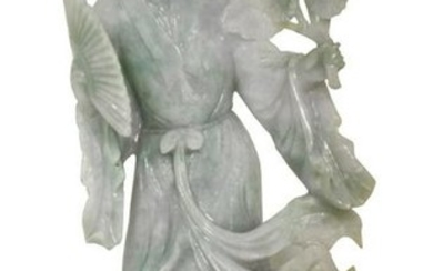 A Lavender Jadeite Guanyin, Chinese
