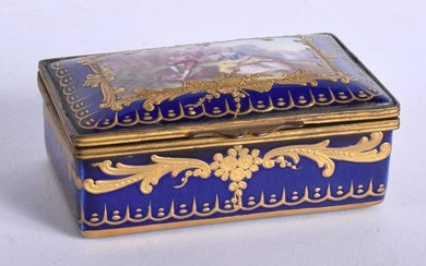 A MID 19TH CENTURY FRENCH SEVRES STYLE RECTANGULAR BOX