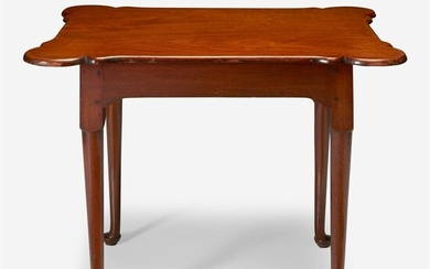 A Queen Anne walnut porringer-top table New England, 18th...