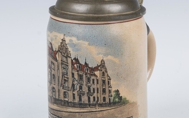 A STONEWARE STEIN BY MERKELBACH AND WICK. Germany c.