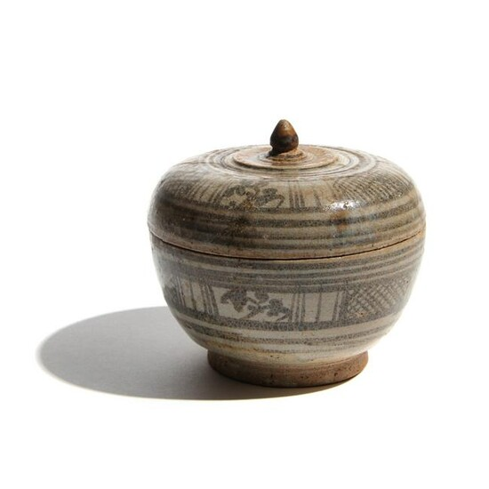 A Thai Glazed Pottery Bowl and Cover