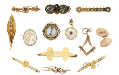 A group of jewellery and other items,...