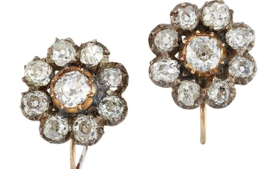A pair of 19th century gold and...