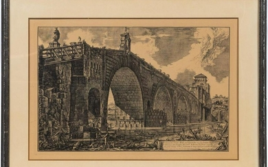 "AFTER PIRANESI, ""THE PONTE MOLLE"" ETCHING, 1762"