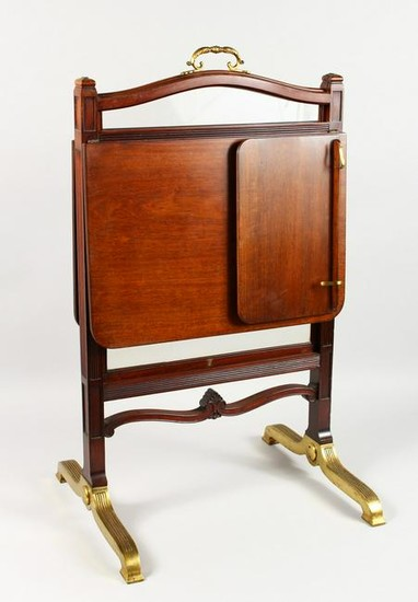 AN EXCEPTIONALLY GOOD QUALITY EDWARDIAN MAHOGANY AND