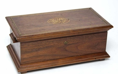 American Marquetry Inlaid Jewelry Box