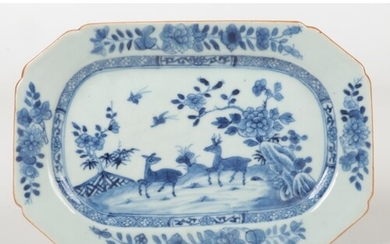 An 18th century Chinese export small canted rectangular dish...