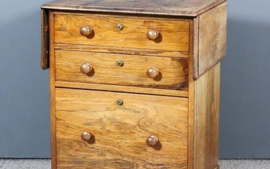 An Early Victorian Rosewood Dropleaf Side or Serving Table,...