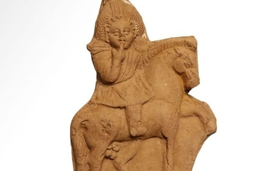 Ancient Egyptian Terracotta Harpocrates on Horse