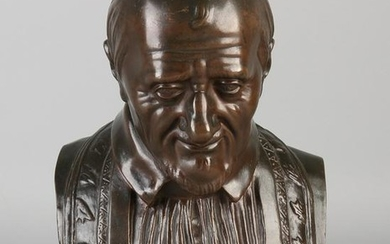 Antique French bronze bust. 19th century. F.