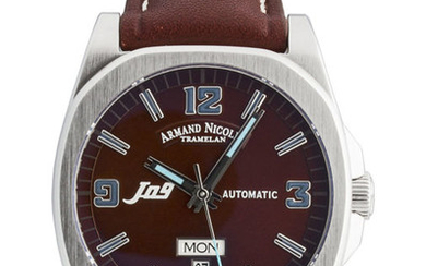 Armand Nicolet - J09 Day & Date Automatic - 9650A-MR-PK2420MR - from official dealer - Men - 2011-present