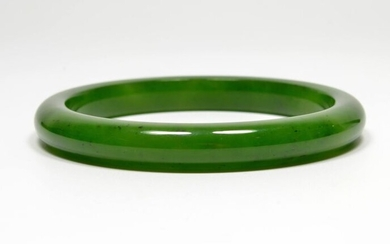 Bangle - Natural Nephrite Jade - Certified - China - Late 20th century