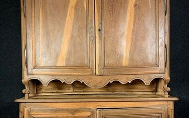 Beautiful buffet with two bodies - Natural wood - 1800 circa