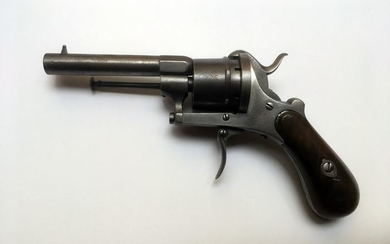 Belgium - Double action (DA) - Pinfire (Lefaucheux) - Revolver - 7mm Cal