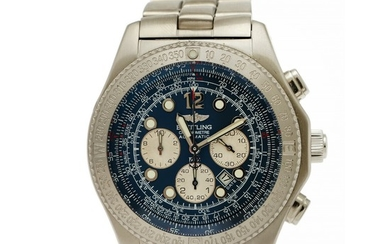 Breitling: A gentleman's wristwatch of steel. Model B2, ref. A42362. Mechanical COSC chronograph movement with automatic winding. 2005.