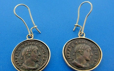 COOL 14k Yellow Gold & Coin Earrings