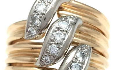 Cartier - 18 kt. White gold, Yellow gold - Ring - 0.30 ct Diamond