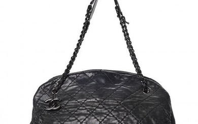 Chanel - Iridescent Calfskin Large Just Mademoiselle Bowling Bag Black Shoulder bag