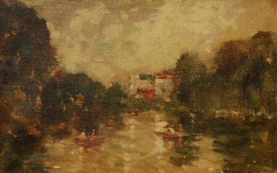 Charles Horwood, British 1908-1975- Henley-on-Thames, 1967; oil...