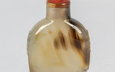 Chinese Cameo Agate Snuff Bottle