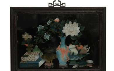 Chinese Reverse Glass Painting, 19th Century