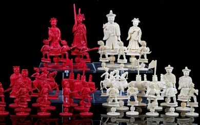 Chinese carved leg figures for chess