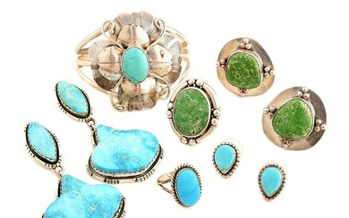 Collection of Native American Turquoise, Sterling