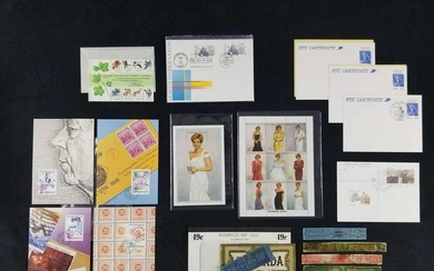 Collection of US and International Postal Stamps and