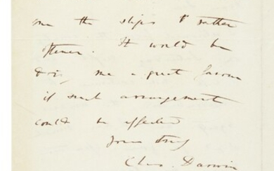 DARWIN | autograph letter signed, to Henry Colburn, [1837]