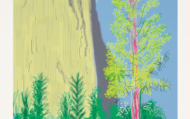David Hockney, Untitled No. 22, from The Yosemite Suite
