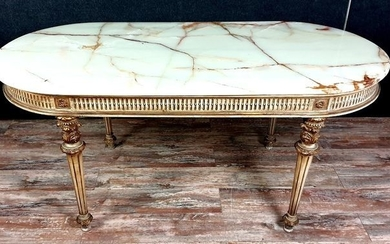 Dining table in lacquered and gilded wood - Louis XVI Style