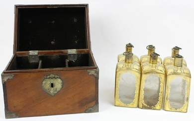 Early 19th c Dutch Cased Decanter Set