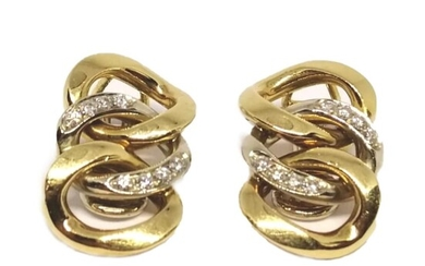 Earrings gold Signed Weingrill