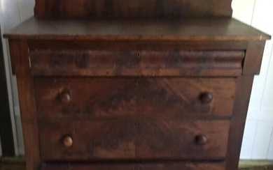 Empire Style Crotch Mahogany Chest / Bureau