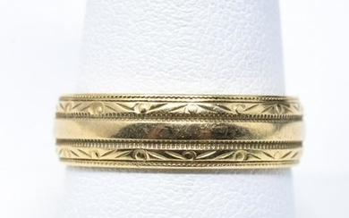 Estate 14kt Yellow Gold Mens Wedding Band or Ring