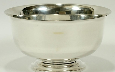 "FOOTED STERLING BOWL H 5"" DIA 9"" 23.01 TOZ"