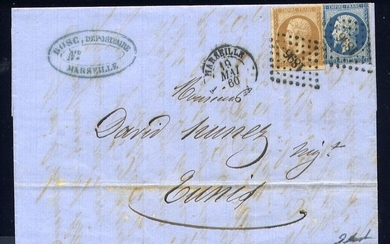 France 1860 - Rare letter from Marseille to Tunis by French route