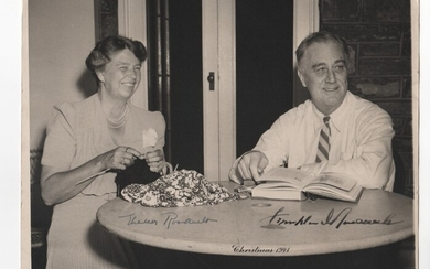 Franklin and Eleanor Roosevelt dual signed photo