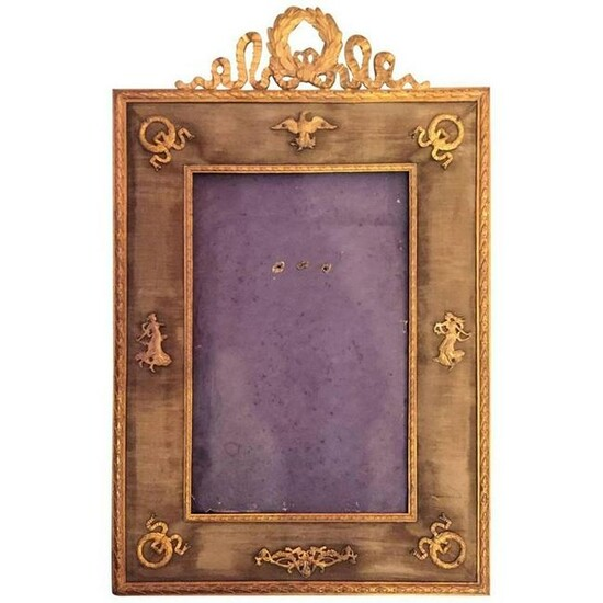 French Empire Style Gilt Bronze Desk Frame