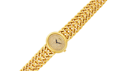 Gold and Diamond Curb Link Wristwatch, Piaget
