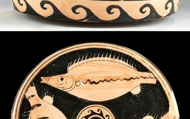 Greek Attic Red-Figure Fish Plate w/ Export License